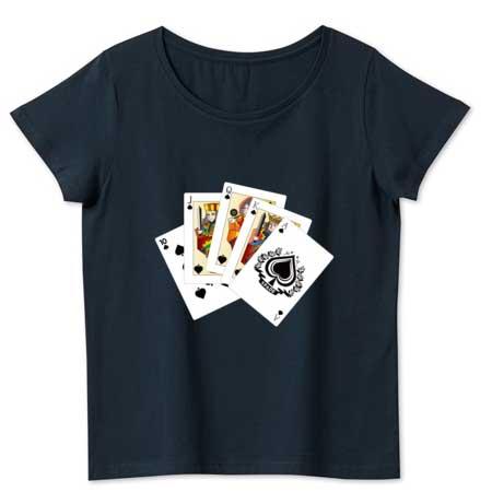 ロイヤルストレートフラッシュのトランプTシャツ