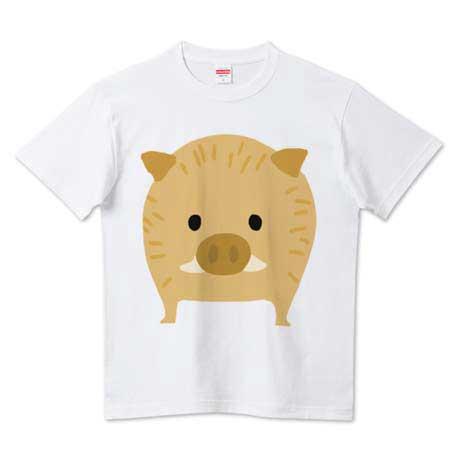 可愛いイノシシTシャツ