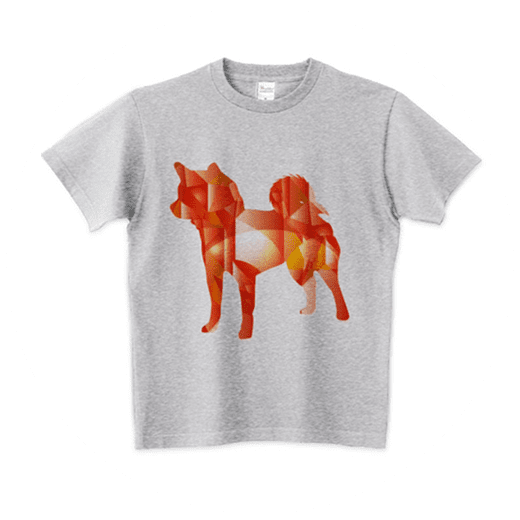 柴犬ルビーのシルエットTシャツ
