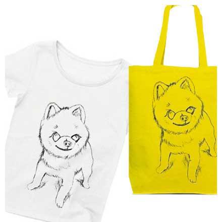 かわいい♡手描きのポメラニアンのイラストTシャツ