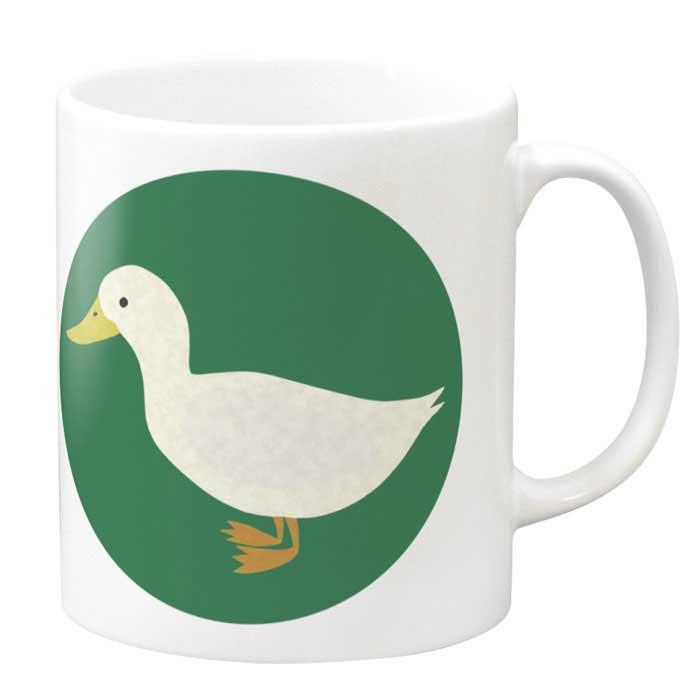 ナチュラルなアヒルちゃんのマグカップ