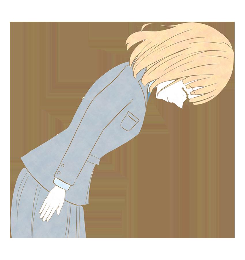 挨拶・礼する人スーツの女性のイラスト