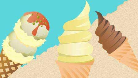 アイスクリームのイラスト - 冷たいお菓子の無料素材