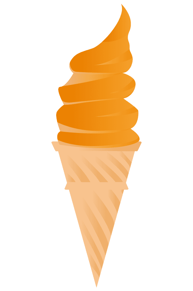 オレンジソフトクリーム