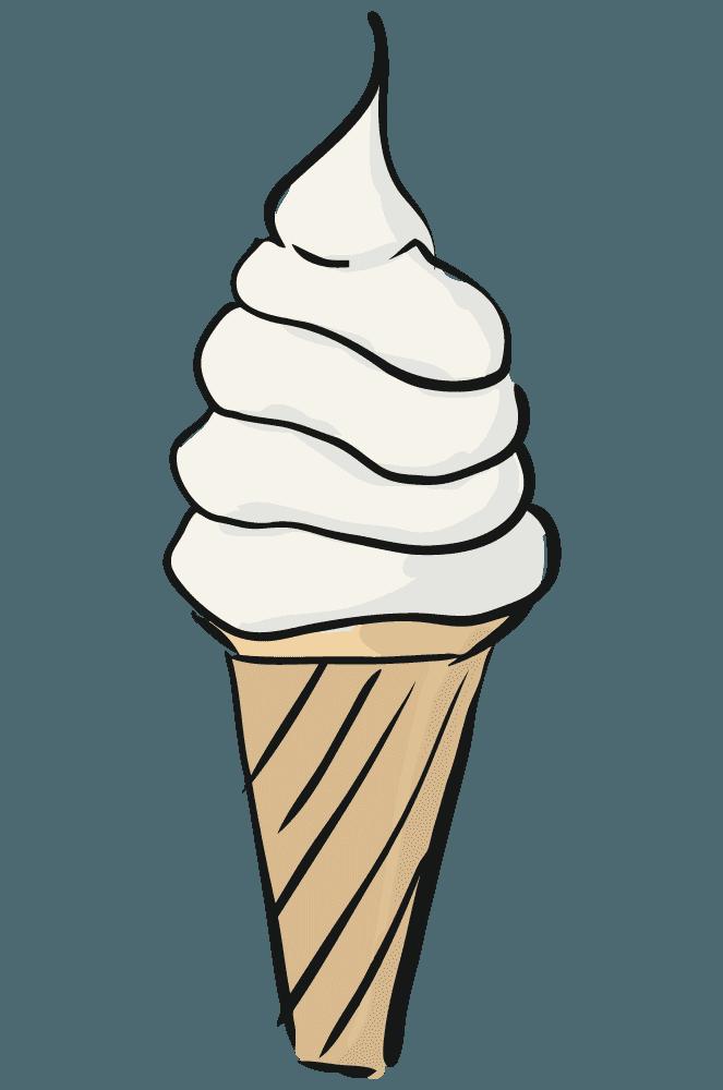 手描きのソフトクリーム