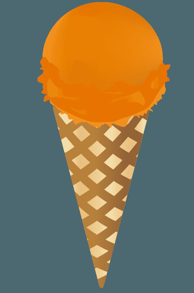 オレンジ味のアイスクリーム