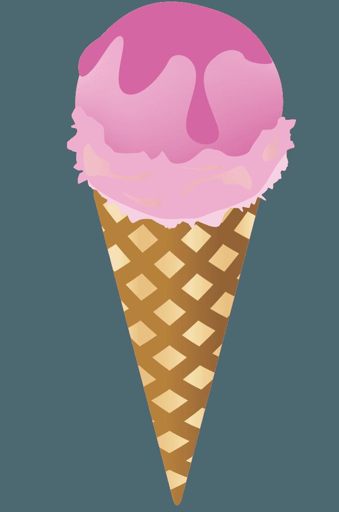 ストロベリー味のアイスクリーム