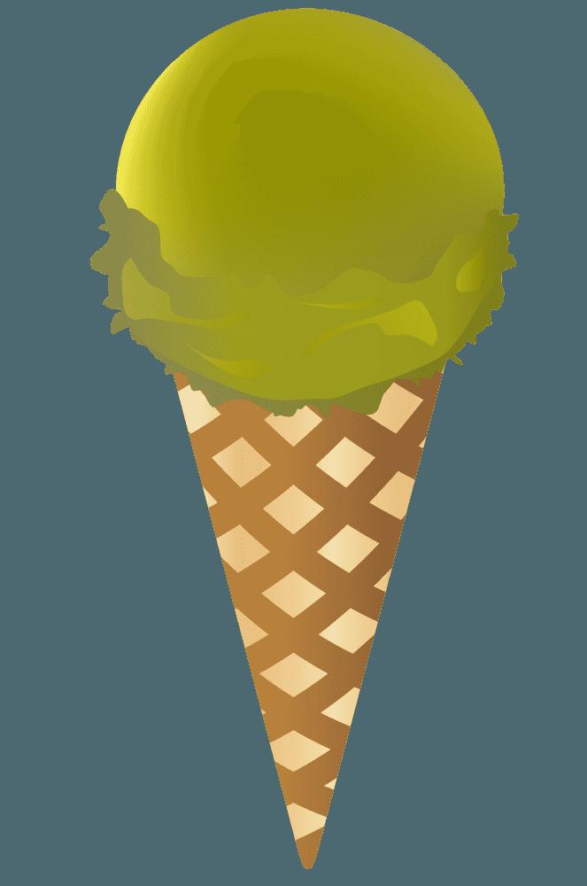 抹茶味のアイスクリーム