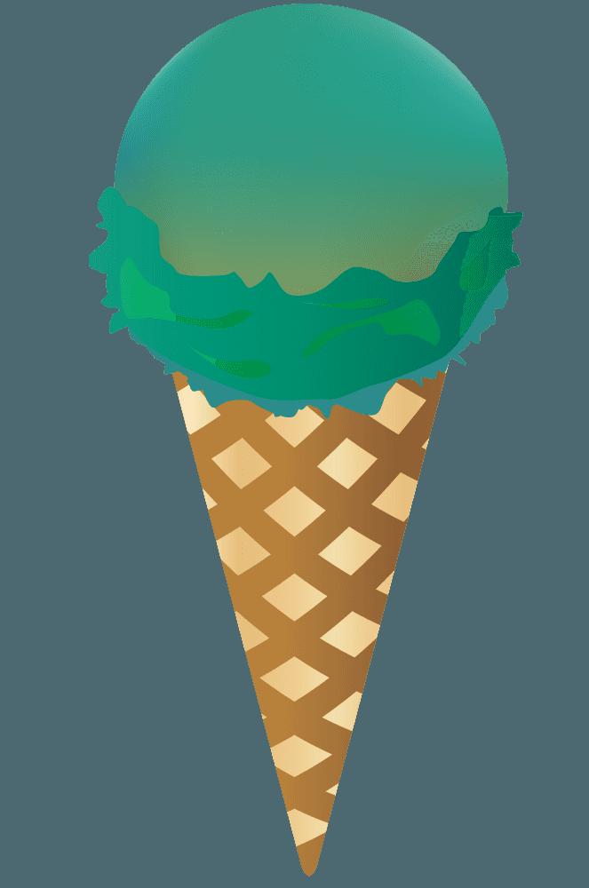 ソーダー味のアイスクリーム