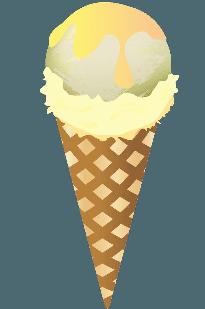 バニラ味のアイスクリーム