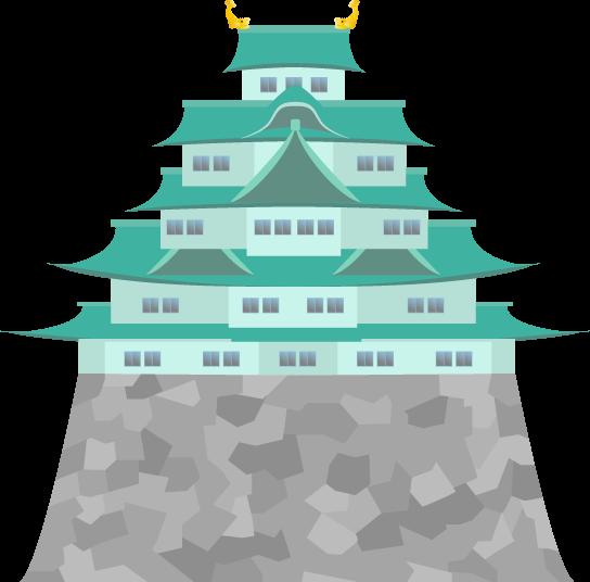 名古屋城のイラスト