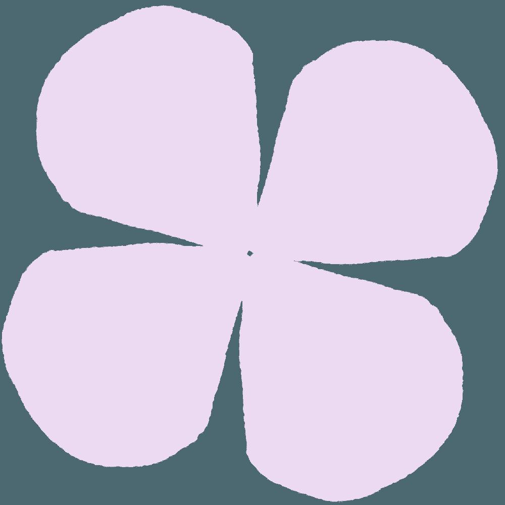 あじさいの薄い紫の花びらイラスト