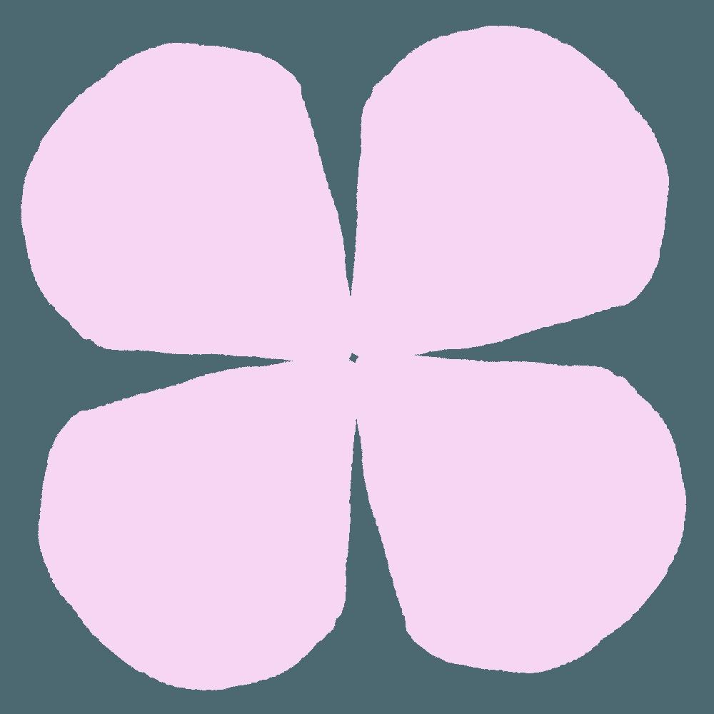 ピンク色の紫陽花の花びらイラスト