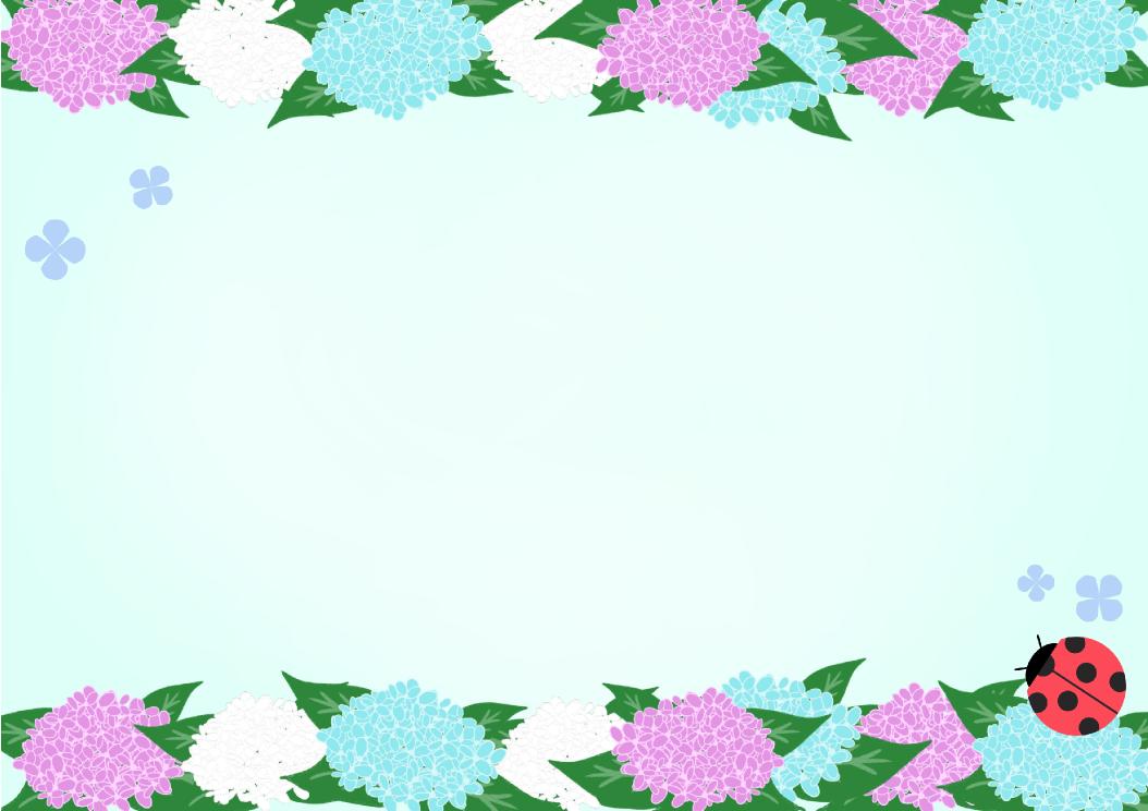 あじさいフレーム(背景あり1054×744)