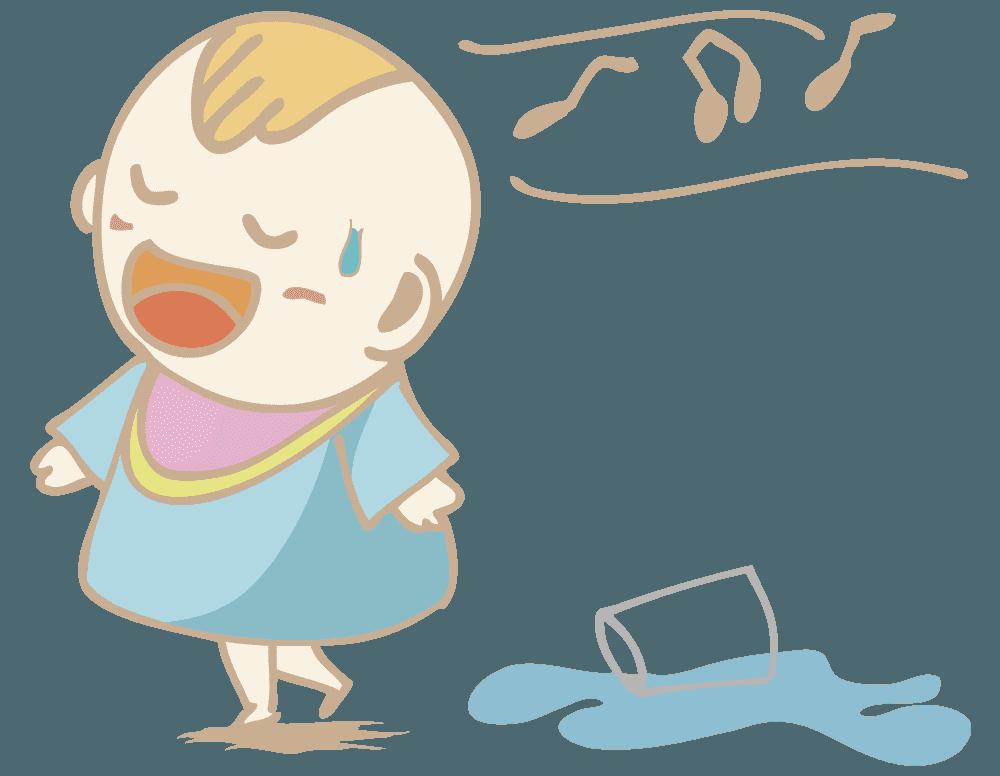 知らんぷりの赤ちゃんのイラスト