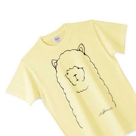 結構イエローなアルパカさんのTシャツ