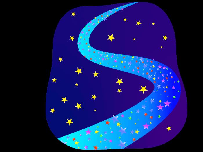 かわいい天の川の挿絵イラスト