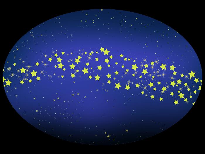 シンプルな天の川の挿絵イラスト