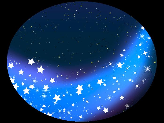 きれいな天の川の挿絵イラスト