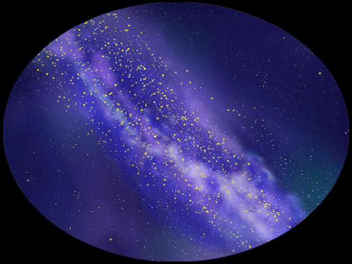 リアルな天の川の挿絵イラスト