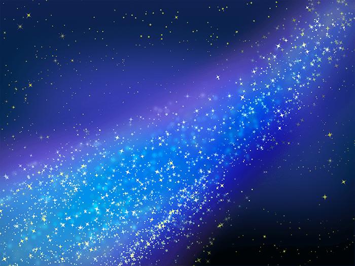 きれいな天の川のイラスト