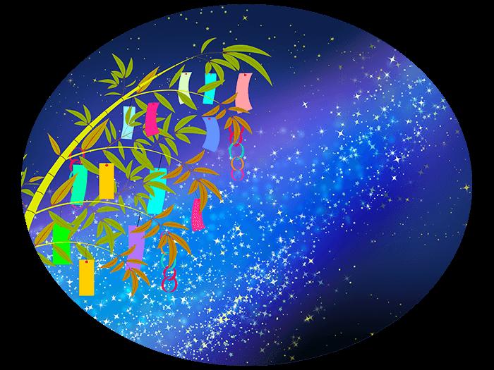 笹の葉と天の川の挿絵イラスト3