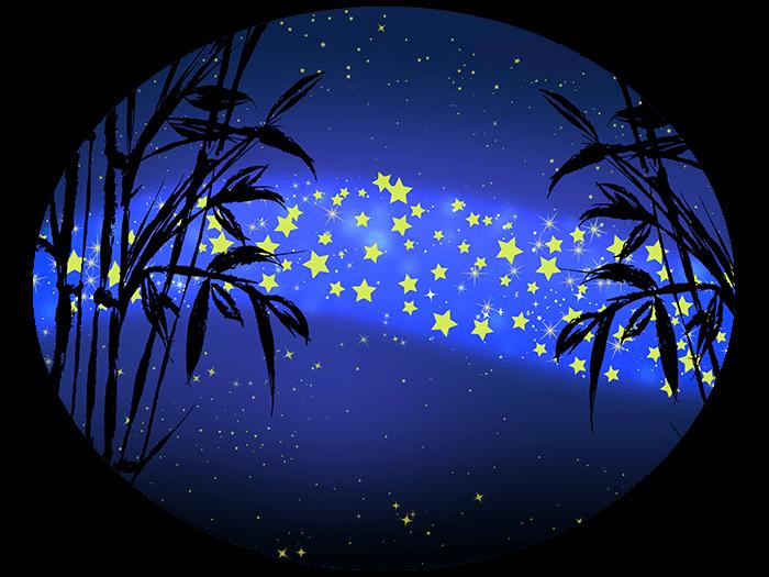笹の葉と天の川の挿絵イラスト6