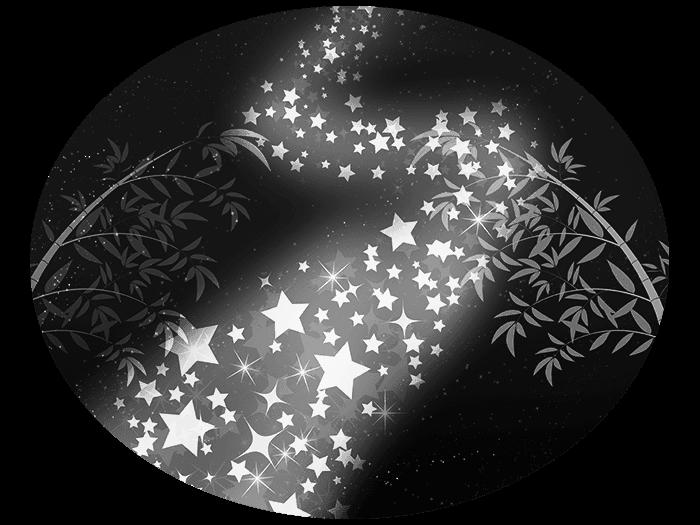 白黒の天の川のイラスト1