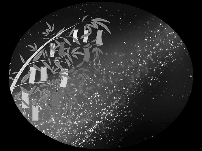 白黒の天の川のイラスト2