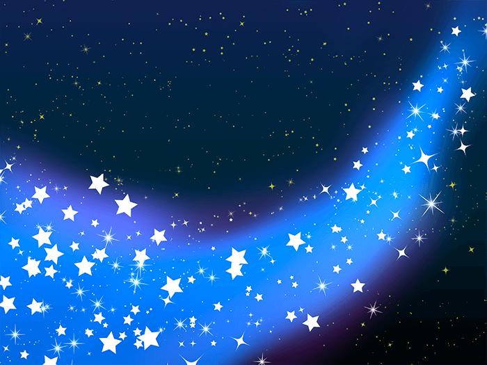 かわいい天の川のイラスト3