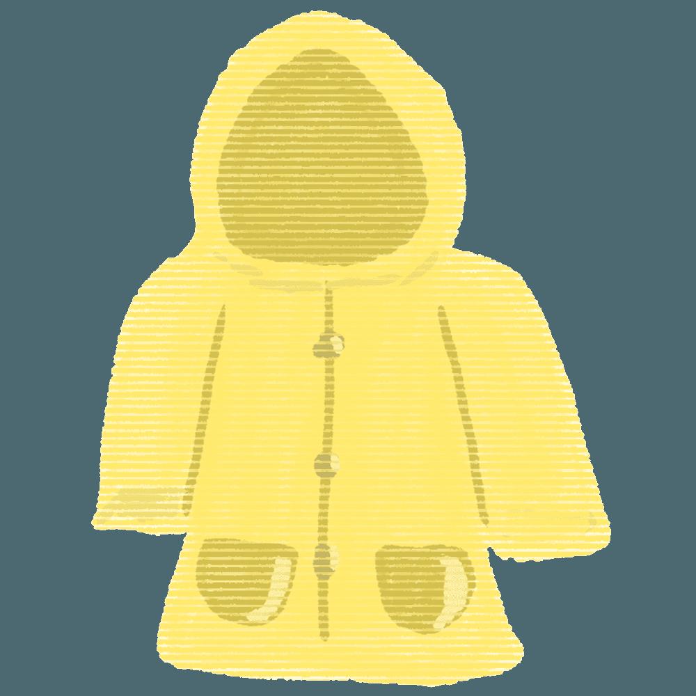 黄色のかっぱイラスト