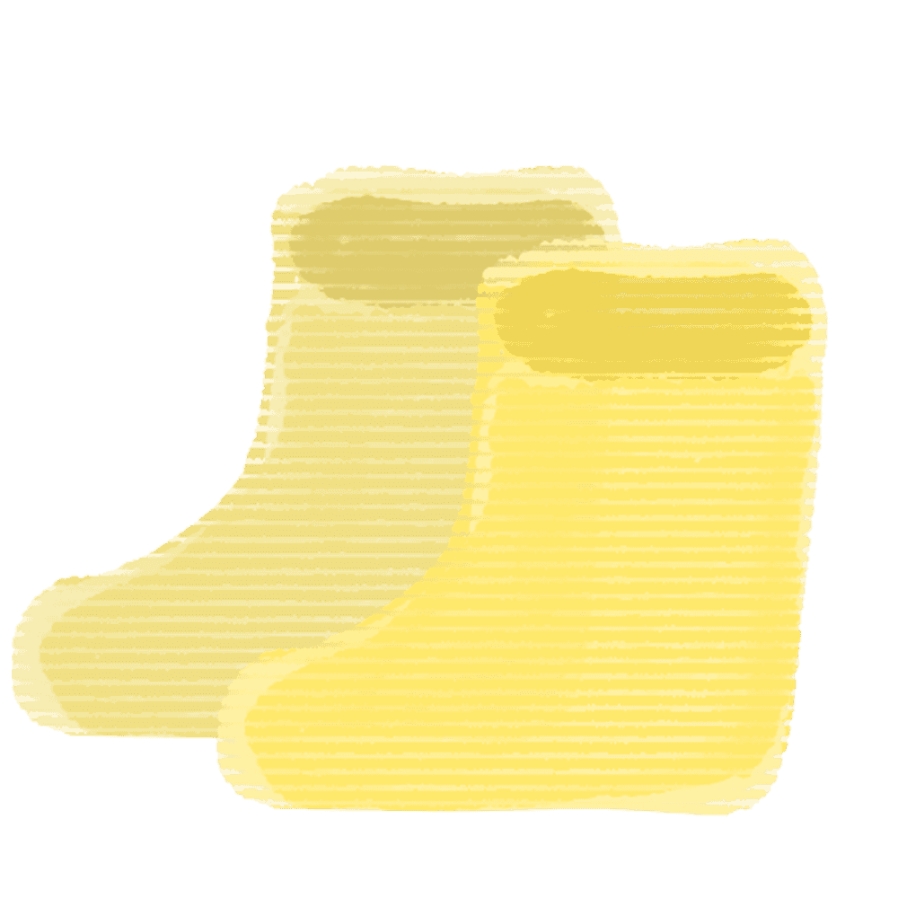 黄色い長靴イラスト