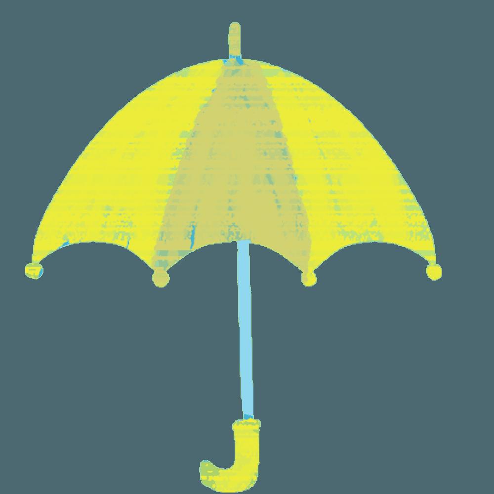 黄色い傘のイラスト
