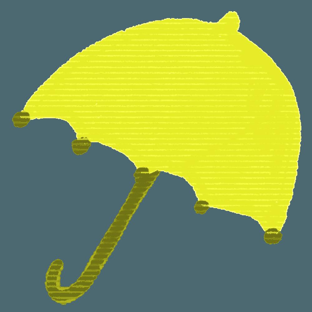 可愛い黄色い傘イラスト