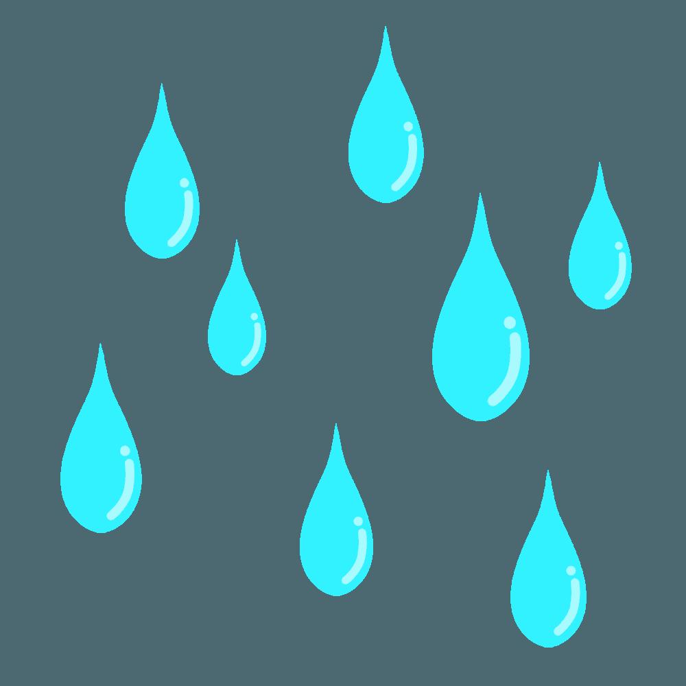 可愛い雨イラスト