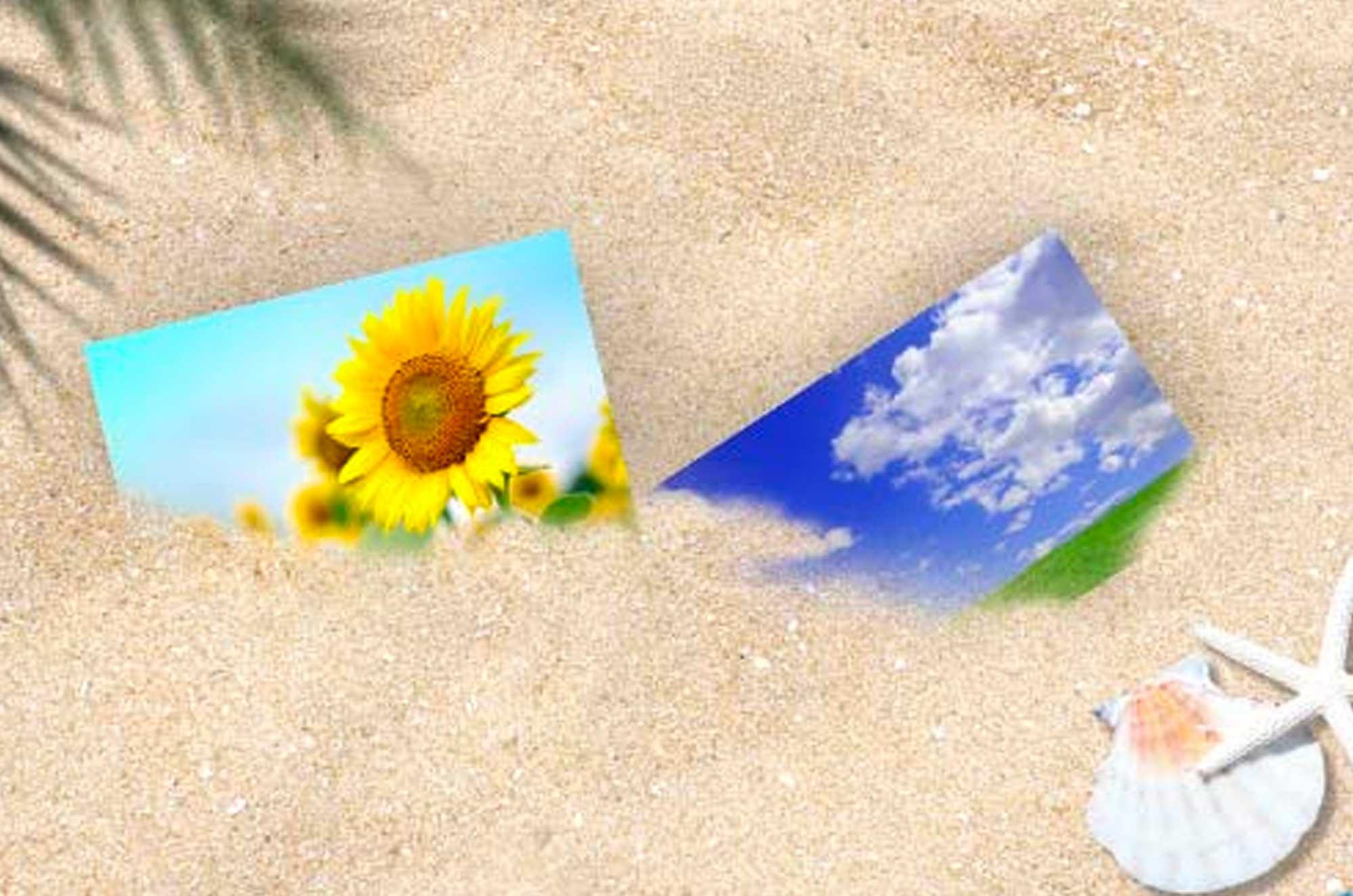 フォトショップで作る砂に埋もれた合成写真の作り方