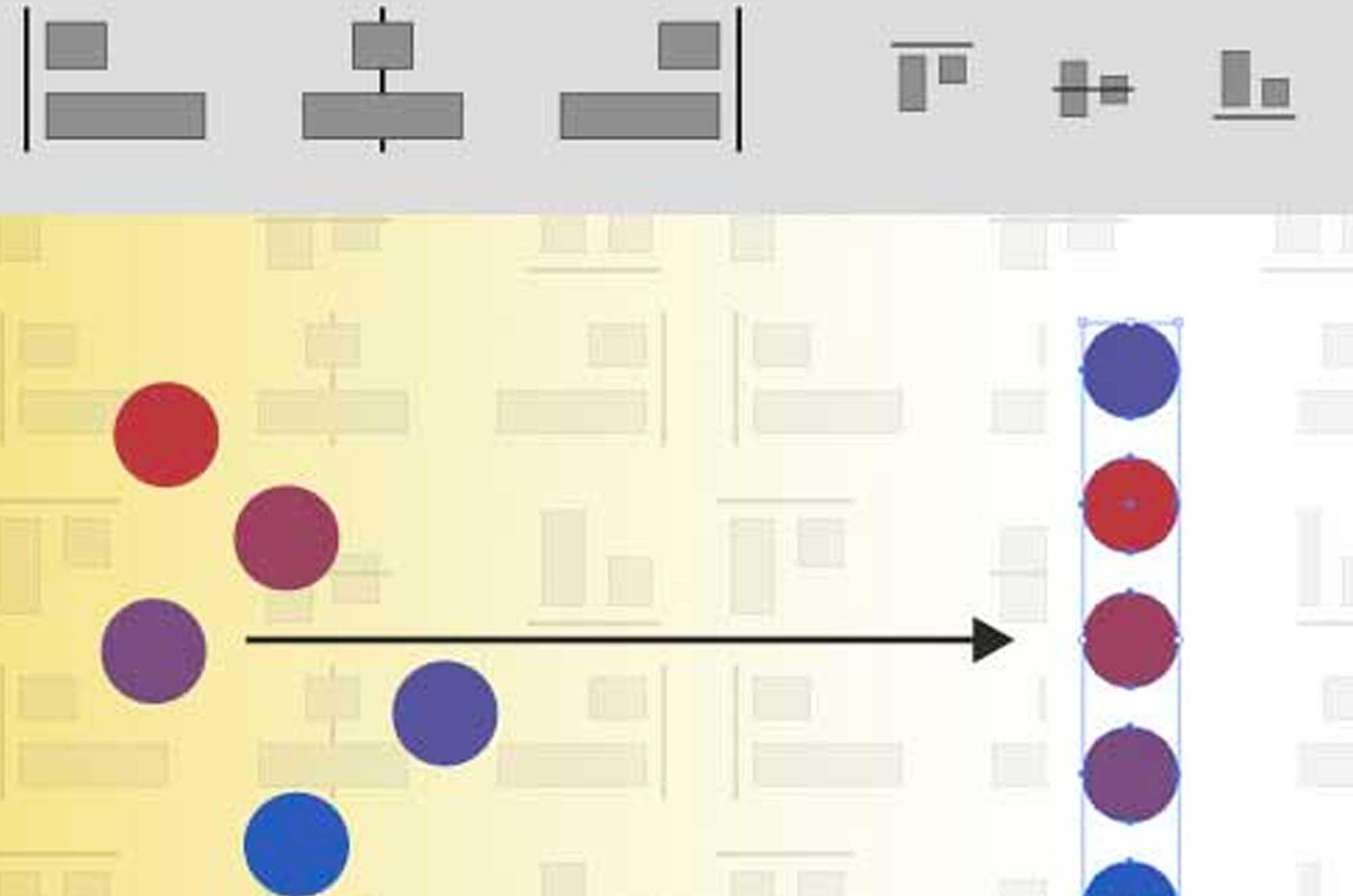 イラストレーターで簡単にオブジェクトを整列させる方法