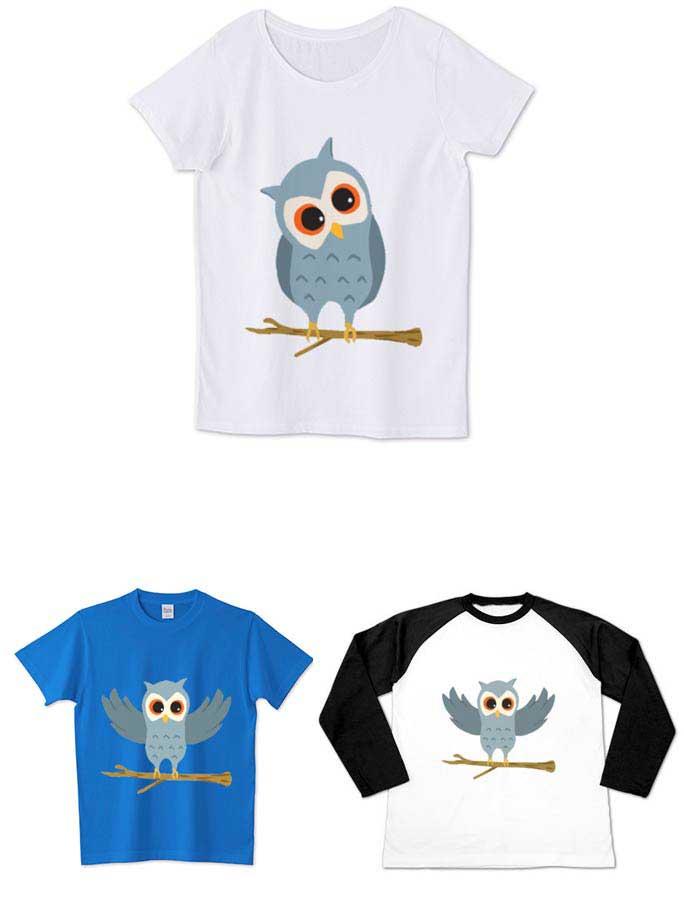 フクロウのTシャツ