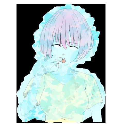 凍りつく女の子
