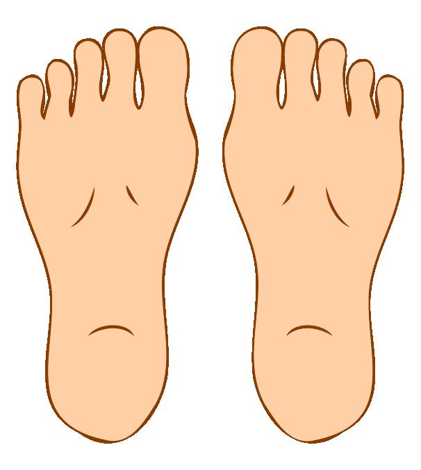 足の裏のイラスト(両足)