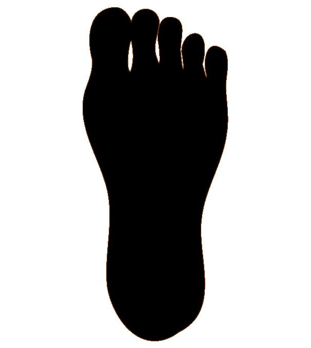 足の裏のシルエット(片足)