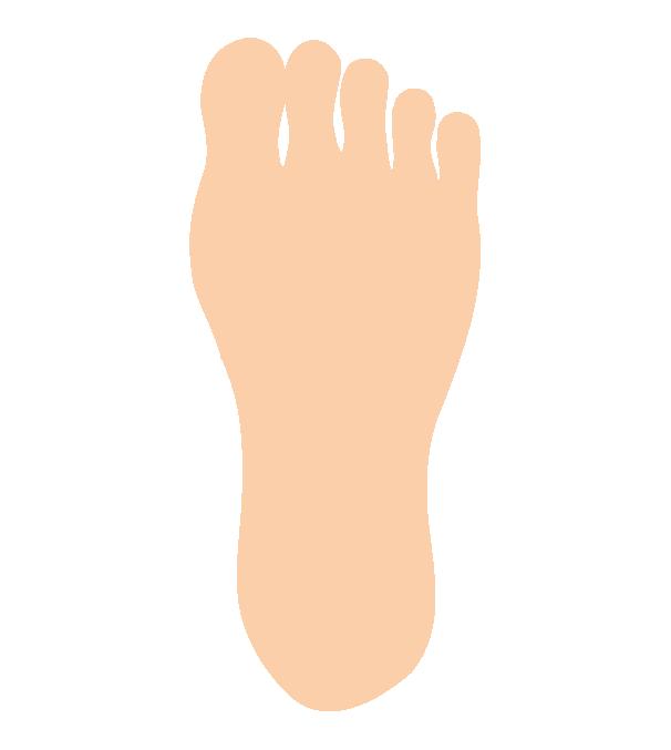 シンプルな足の裏のイラスト