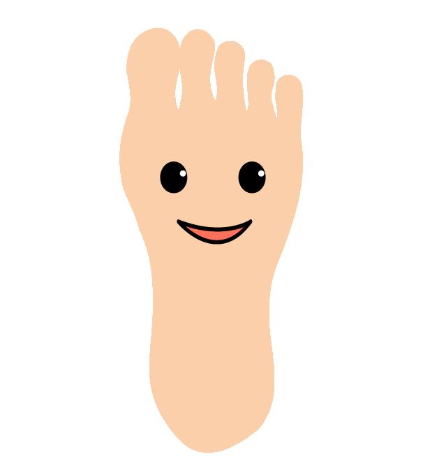 元気な足の裏のイラスト