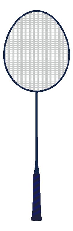 青いバドミントンラケットのイラスト