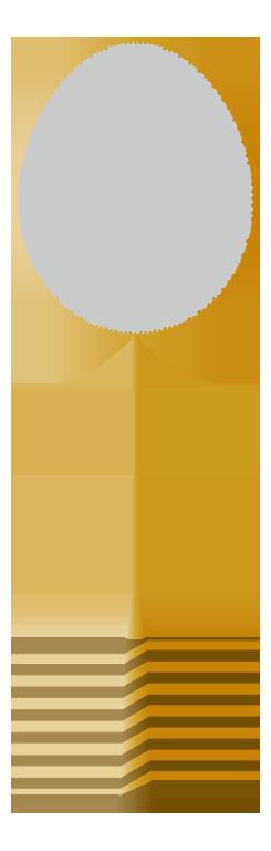 金色のバドミントンラケットのイラスト