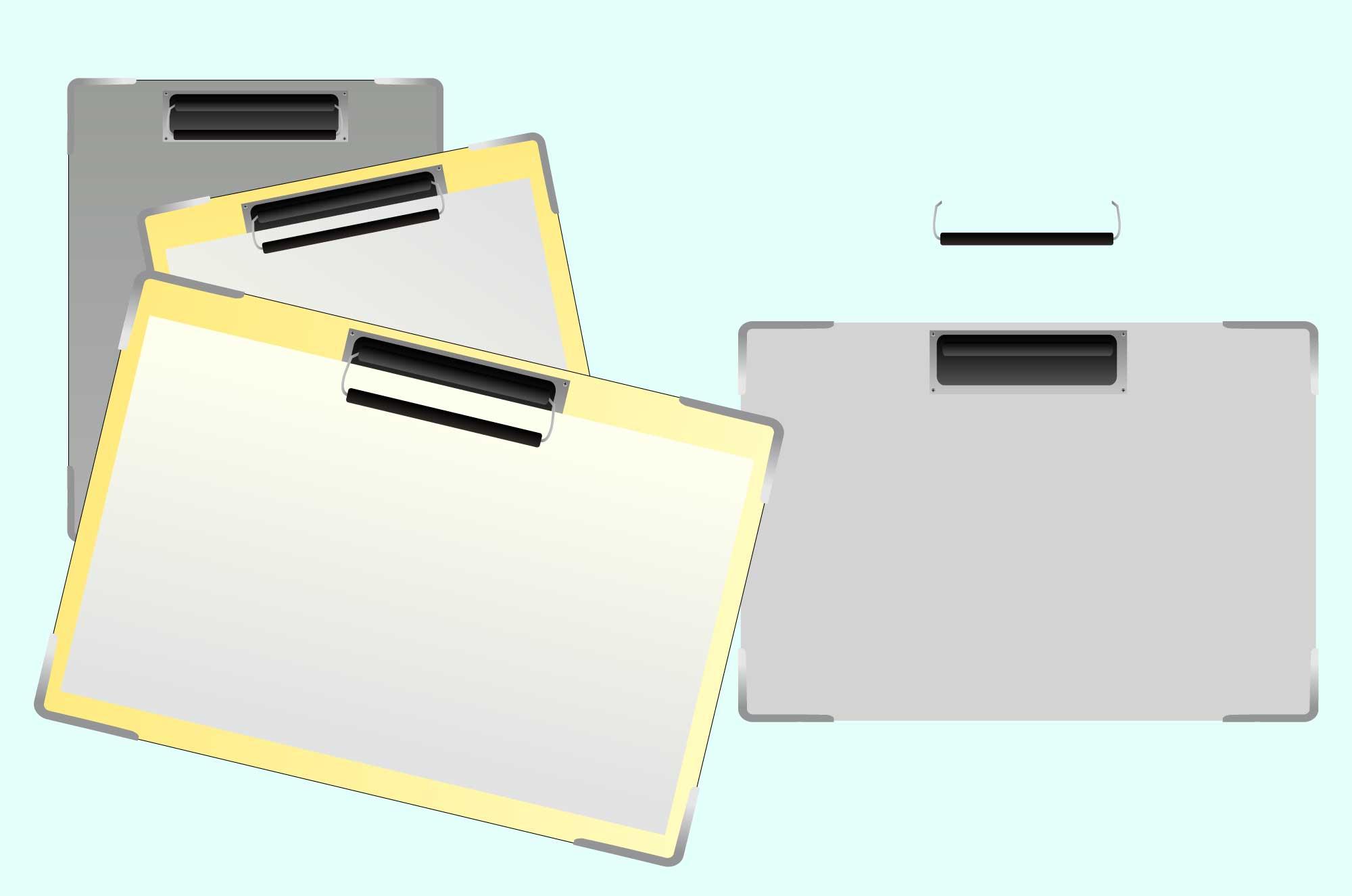 バインダー・クリップボードの無料イラスト素材