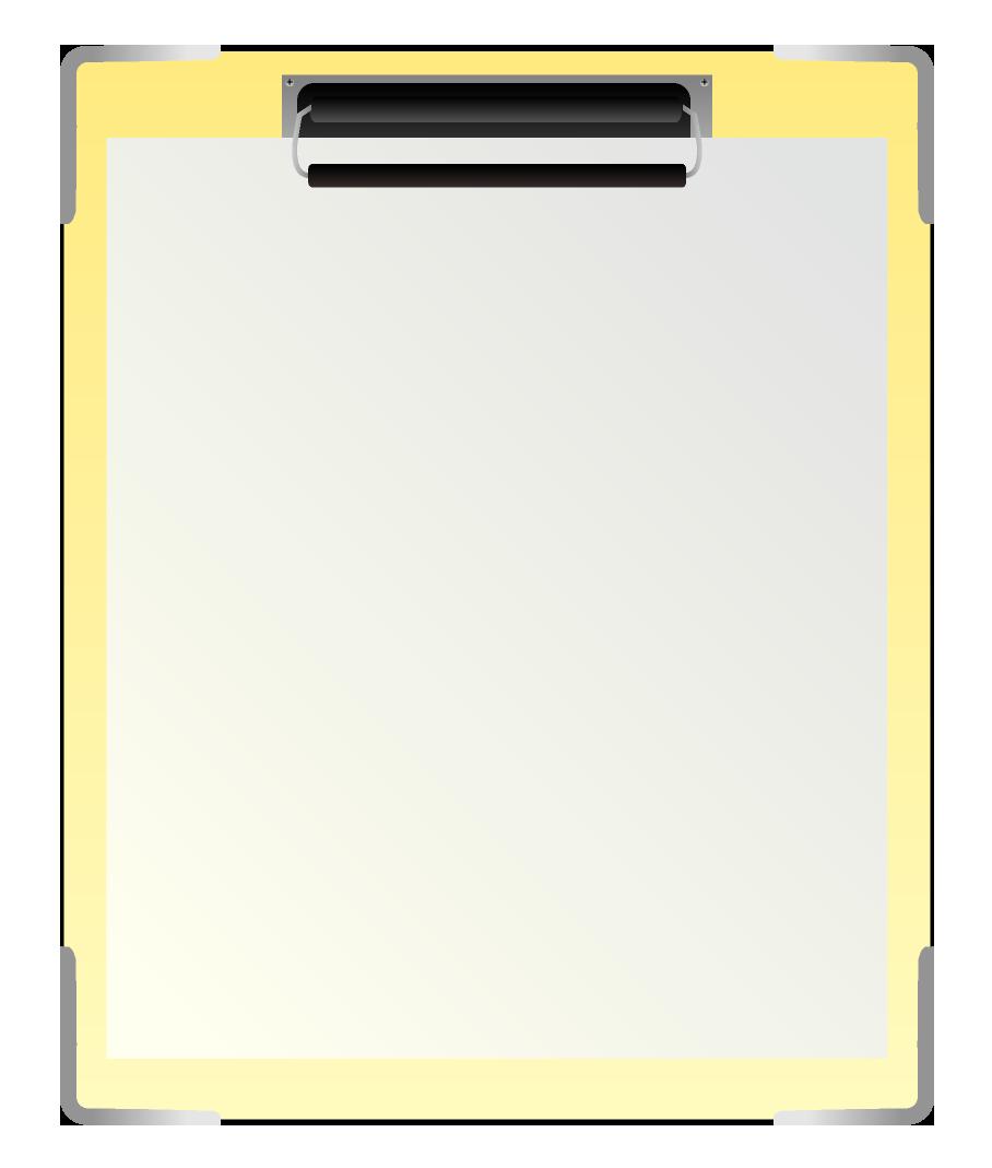 紙を挟んだ縦のバインダーのイラスト
