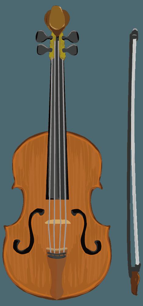 クラシックなバイオリンのイラスト