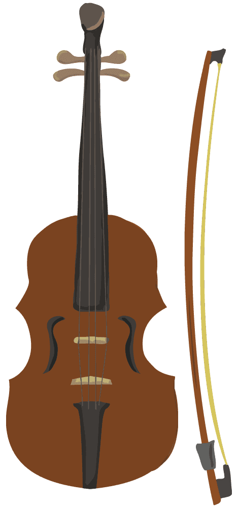 アートなバイオリンのイラスト