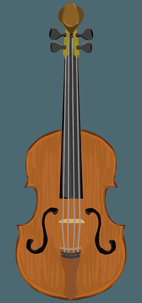 可愛いバイオリンのイラスト